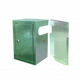 Cassetta di protezione per elettrovalvole gas in lamiera