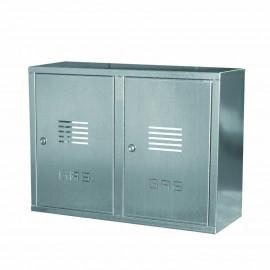 Cassetta doppia per contatore gas in acciaio inox