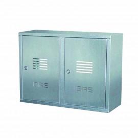 Cassetta doppia per contatore gas in lamiera zincata