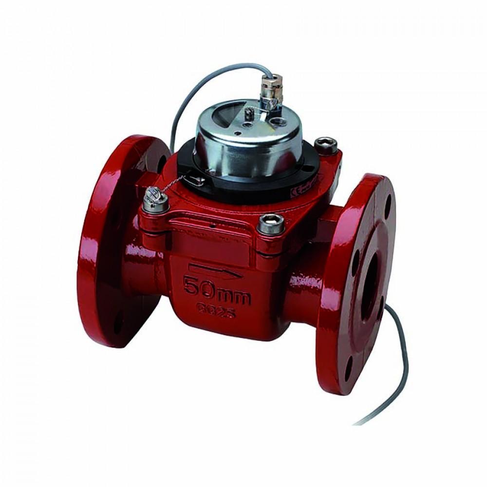 Contatore acqua calda woltmann quadrante asciutto estraibile con emettitore d'impulsi