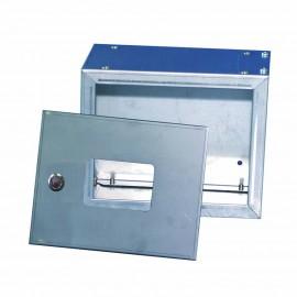 Cassetta per dispositivo di sicurezza in acciaio inox