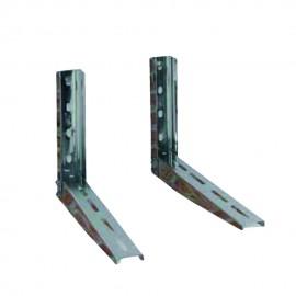 Coppia Staffe Inox Aisi 304 P520 H400 20/10Mm 180+180Kg