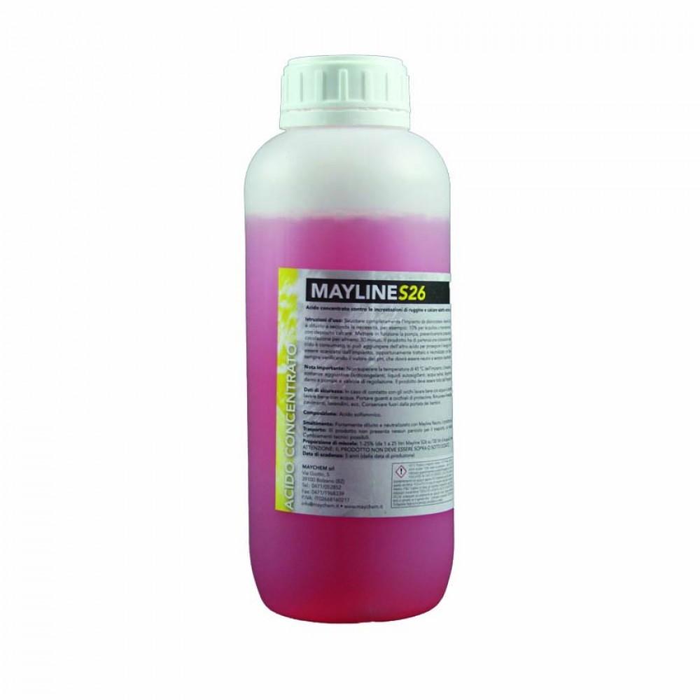 Acido concentrato contro le incrostazioni di ruggine e calcare