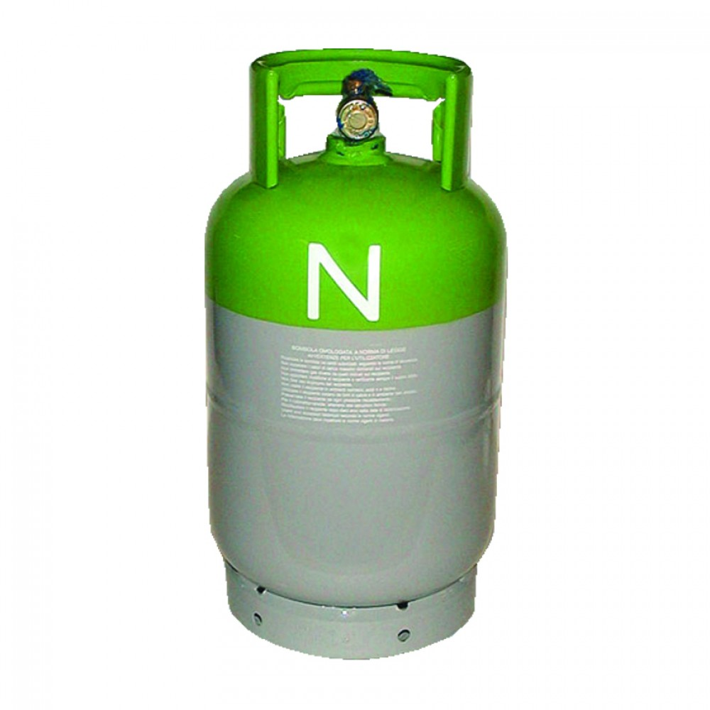 Bombola Piena Di Gas R407C Kg.10 Attacco Da 1/4