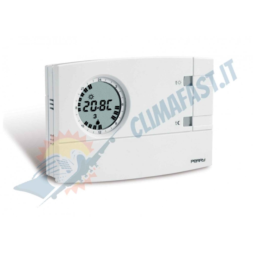 Cronotermostato Perry Mod. 1CR CR209/S modello giornaliero e settimanale