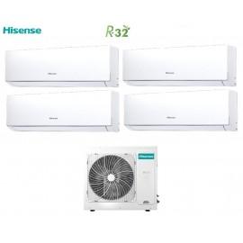 Climatizzatore Condizionatore Hisense Quadri Split Inverter New Comfort R-32 9+9+9+12 con 4AMW81U4RAA