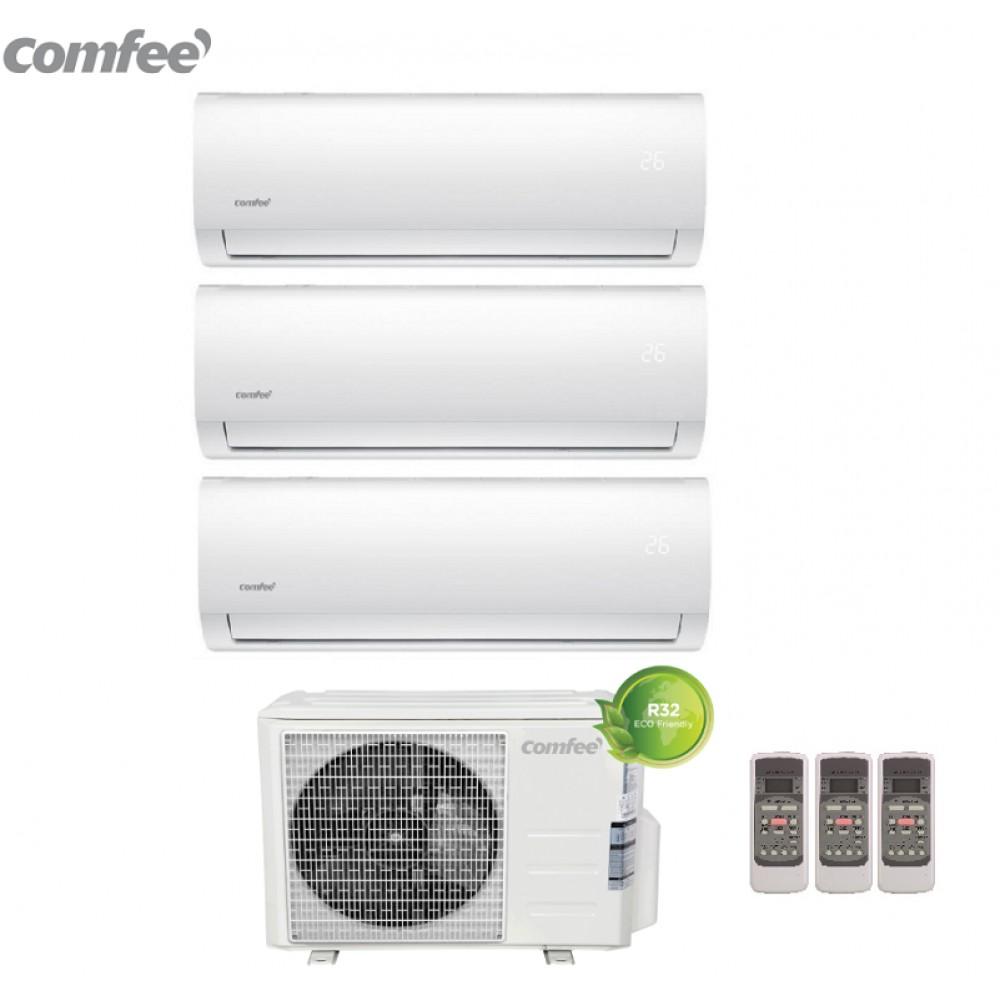 Climatizzatore Condizionatore Comfee Trial Split Inverter R-32 serie SIRIUS 9000+12000+12000 con 3E-27K 9+12+12 - NEW