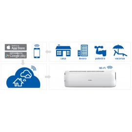 CLIMATIZZATORE CONDIZIONATORE INVERTER HAIER NEBULA GREEN W AS35S2SN2FA 12000 btu Wi-Fi R-32 A++