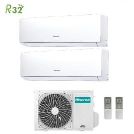 Climatizzatore Condizionatore Hisense Dual Split Inverter New Comfort R-32 7000+9000 con 2AMW42U4RRA 7+9 A++ Wi-Fi Optional NEW