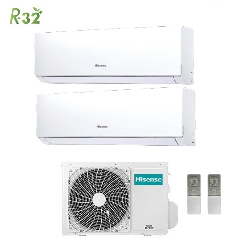 Climatizzatore Condizionatore Hisense Dual Split Inverter New Comfort R-32 7000+12000 con 2AMW42U4RRA 7+12 A++ Wi-Fi Optional NEW