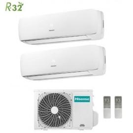 Climatizzatore Condizionatore Hisense Dual Split Inverter Mini Apple Pie R-32 9000+12000 con 2AMW50U4RXA 9+12 A++ Wi-Fi Optional NEW