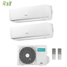 Climatizzatore Condizionatore Hisense Dual Split Inverter Mini Apple Pie R-32 12000+12000 con 2AMW50U4RXA 12+12 A++ Wi-Fi Optional NEW