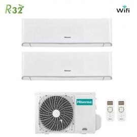 Climatizzatore Condizionatore Hisense Dual Split Inverter Energy R-32 9000+9000 con 2AMW50U4RXA 9+9 A++ Wi-Fi NEW