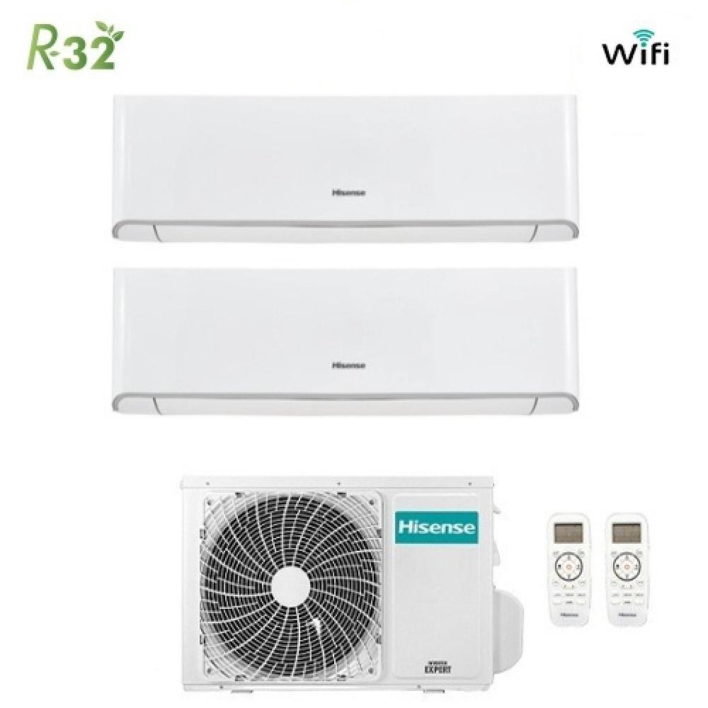 Climatizzatore Condizionatore Hisense Dual Split Inverter Energy R-32 9000+12000 con 2AMW50U4RXA 9+12 A++ Wi-Fi NEW