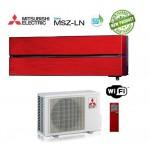 Climatizzatore Condizionatore Mitsubishi Electric Inverter MSZ-LN Kirigamine Style 9000 BTU MSZ-LN25VGR Ruby Red WI-FI R-32 A+++ Rosso