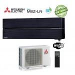 Climatizzatore Condizionatore Mitsubishi Electric Inverter MSZ-LN Kirigamine Style 9000 BTU MSZ-LN25VGB Onyx Black WI-FI R-32 A+++ Nero