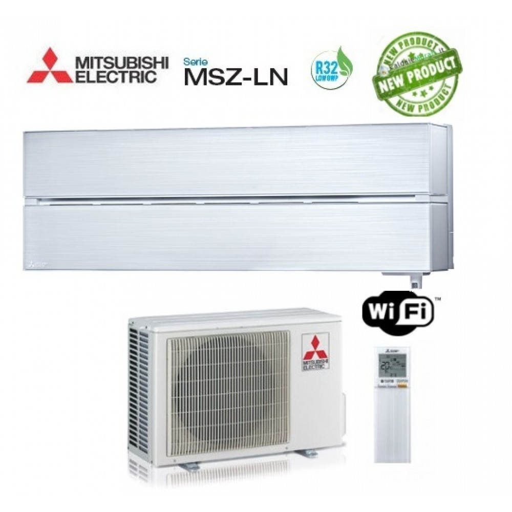 Climatizzatore Condizionatore Mitsubishi Electric Inverter MSZ-LN Kirigamine Style 12000 BTU MSZ-LN35VGV Pearl White bianco perla WI-FI R-32 A+++