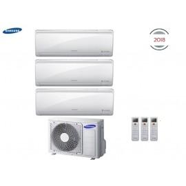 Climatizzatore Condizionatore Samsung Inverter Trial Split Maldives Quantum 7000+7000+12000 con AJ052MCJ - NEW 2018 7+7+12 A+/A