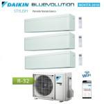 CLIMATIZZATORE CONDIZIONATORE DAIKIN Bluevolution TRIAL SPLIT INVERTER Stylish White bianco R-32 Wi-Fi 9+12+12 con 3MXM68N