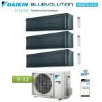 CLIMATIZZATORE CONDIZIONATORE DAIKIN Bluevolution TRIAL SPLIT INVERTER Stylish Blackwood R-32 Wi-Fi 9+9+12 con 3MXM52N