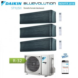 CLIMATIZZATORE CONDIZIONATORE DAIKIN Bluevolution TRIAL SPLIT INVERTER Stylish Blackwood R-32 Wi-Fi 9+9+9 con 3MXM68N