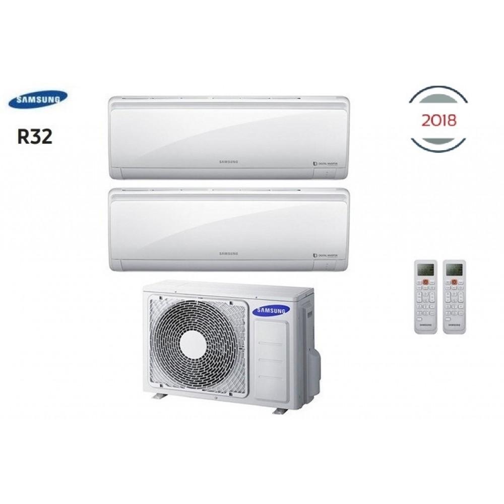 Climatizzatore Condizionatore Samsung Inverter Dual Split Maldives Quantum R-32 7+12 con AJ040NCJ - NEW 2018 7000+12000 A++/A+