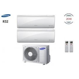 Climatizzatore Condizionatore Samsung Inverter Dual Split Maldives Quantum R-32 12+12 con AJ050NCJ - NEW 2018 12000+12000 A++/A+