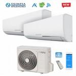 Climatizzatore Condizionatore Dual Split Olimpia Splendid NEXYA S4 E INVERTER 9000+9000 con OS-CEMEH21EI Wi-Fi Ready R32 9+9 NEW