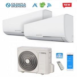 Climatizzatore Condizionatore Dual Split Olimpia Splendid NEXYA S4 E INVERTER 12000+12000 con OS-CEMEH21EI Wi-Fi Ready R32 12+12 NEW