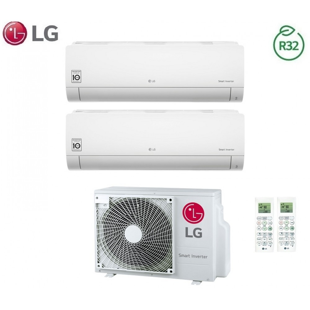 Climatizzatore Condizionatore LG Dual Split Inverter LIBERO R-32 12000+12000 con MU2R17 12+12 - NEW 2018