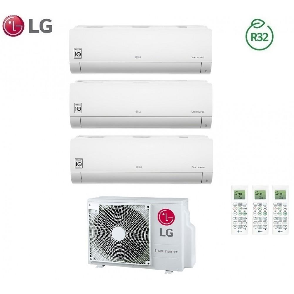 Climatizzatore Condizionatore LG Trial Split Inverter LIBERO R-32 9000+9000+12000 con MU3R19 9+9+12 - NEW 2018