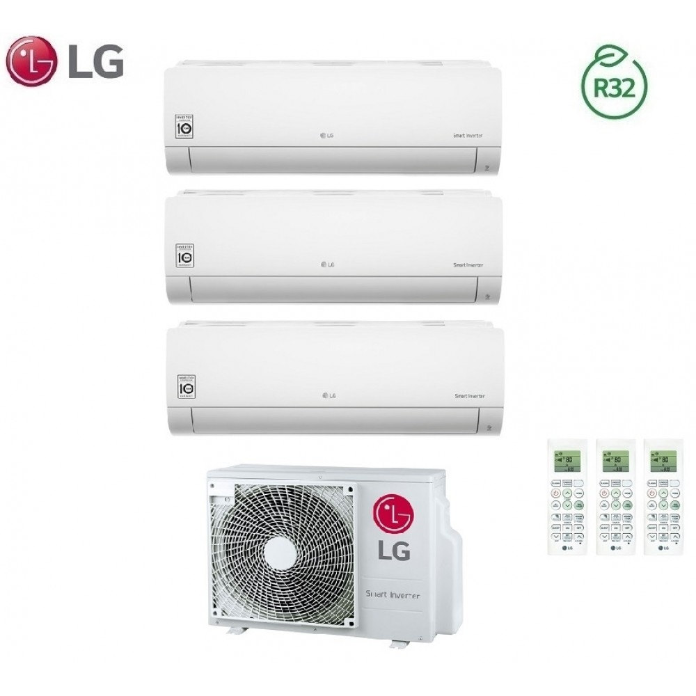 Climatizzatore Condizionatore LG Trial Split Inverter LIBERO R-32 7000+9000+12000 con MU3R19 7+9+12 - NEW 2018