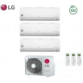 Climatizzatore Condizionatore LG Trial Split Inverter LIBERO R-32 9000+9000+18000 con MU3R21 9+9+18 - NEW 2018