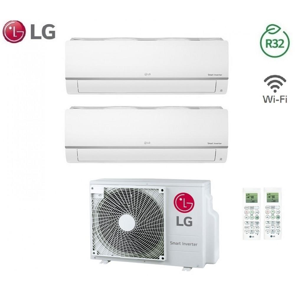 Climatizzatore Condizionatore LG Dual Split Inverter LIBERO PLUS R-32 7000+7000 con MU2R15 7+7 Wi-Fi - NEW 2018