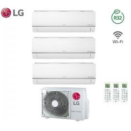 Climatizzatore Condizionatore LG Trial Split Inverter LIBERO PLUS R-32 7000+7000+12000 con MU3R19 7+7+12 Wi-Fi - NEW 2018