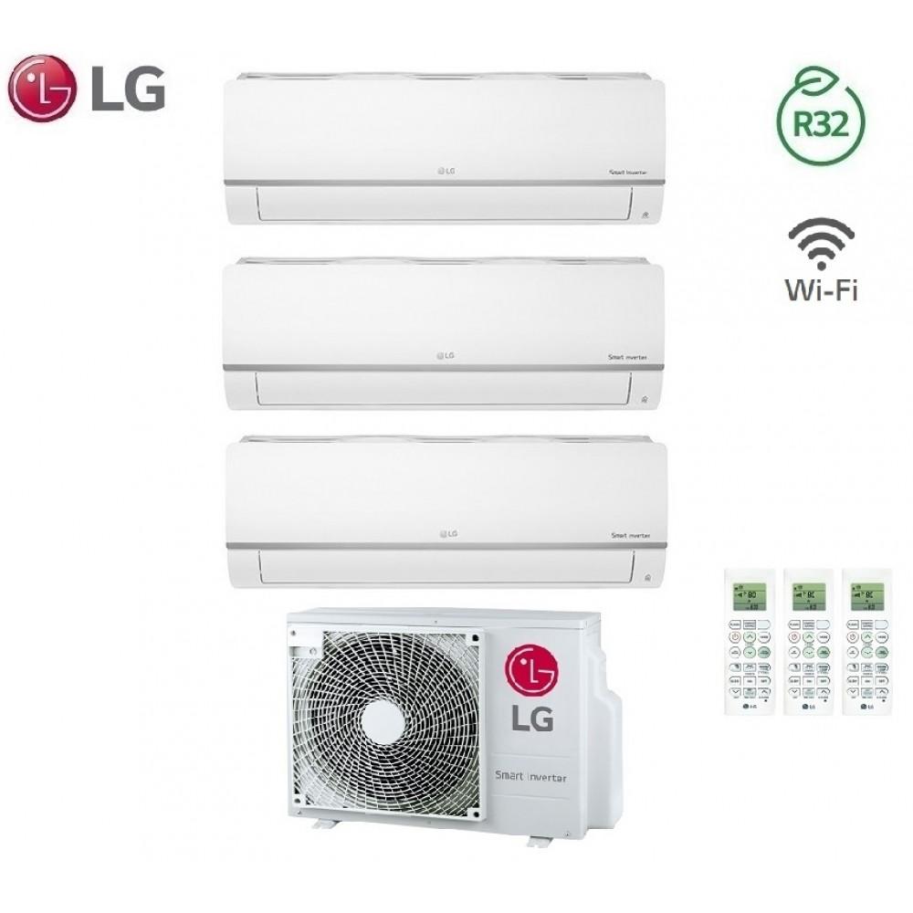 Climatizzatore Condizionatore LG Trial Split Inverter LIBERO PLUS R-32 9000+9000+18000 con MU3R19 9+9+18 Wi-Fi - NEW 2018