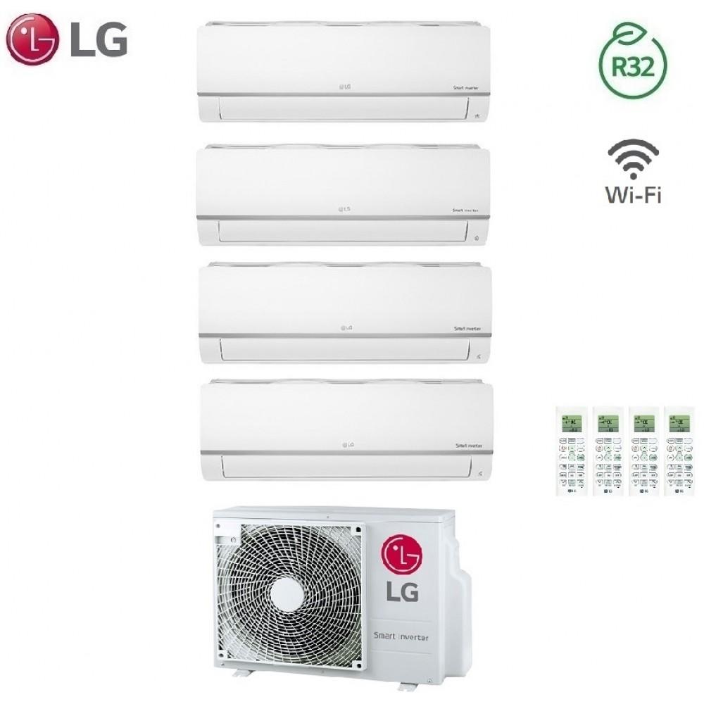 Climatizzatore Condizionatore LG Quadri Split Inverter LIBERO PLUS R-32 7000+7000+9000+12000 con MU4R25 7+7+9+12 Wi-Fi - NEW 2018