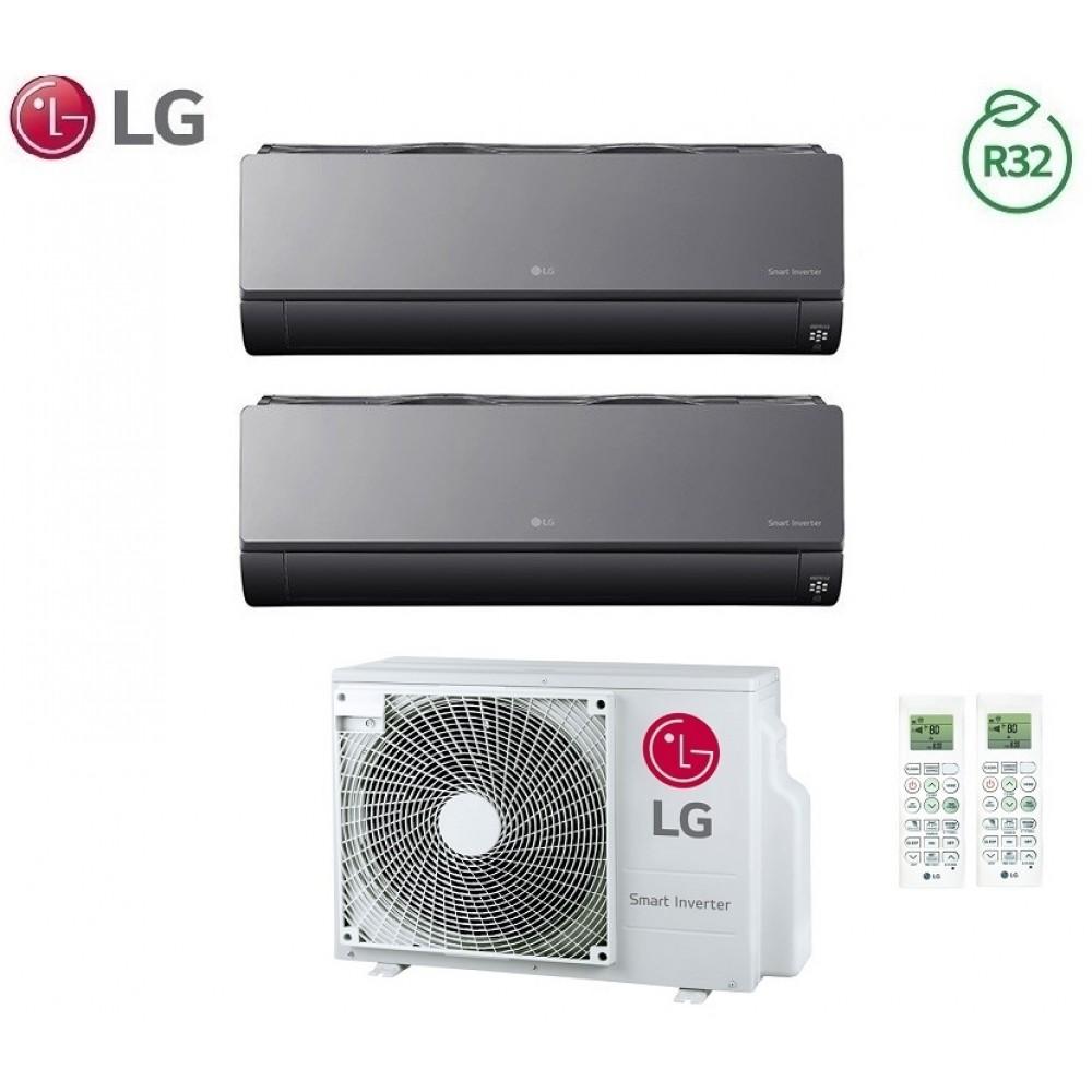 Climatizzatore Condizionatore LG Dual Split Inverter ArtCool R-32 7000+7000 con MU2R15 7+7 Wi-Fi - NEW 2018