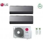 Climatizzatore Condizionatore LG Dual Split Inverter ArtCool R-32 7000+9000 con MU2R15 7+9 Wi-Fi - NEW 2018