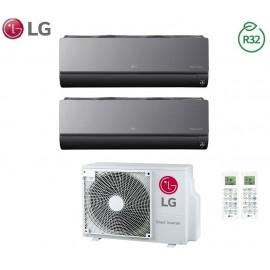 Climatizzatore Condizionatore LG Dual Split Inverter ArtCool R-32 9000+9000 con MU2R15 9+9 Wi-Fi - NEW 2018