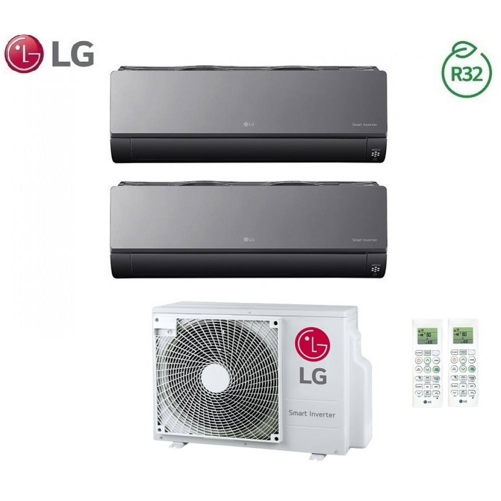 Climatizzatore Condizionatore LG Dual Split Inverter ArtCool R-32 12000+12000 con MU2R17 12+12 Wi-Fi - NEW 2018