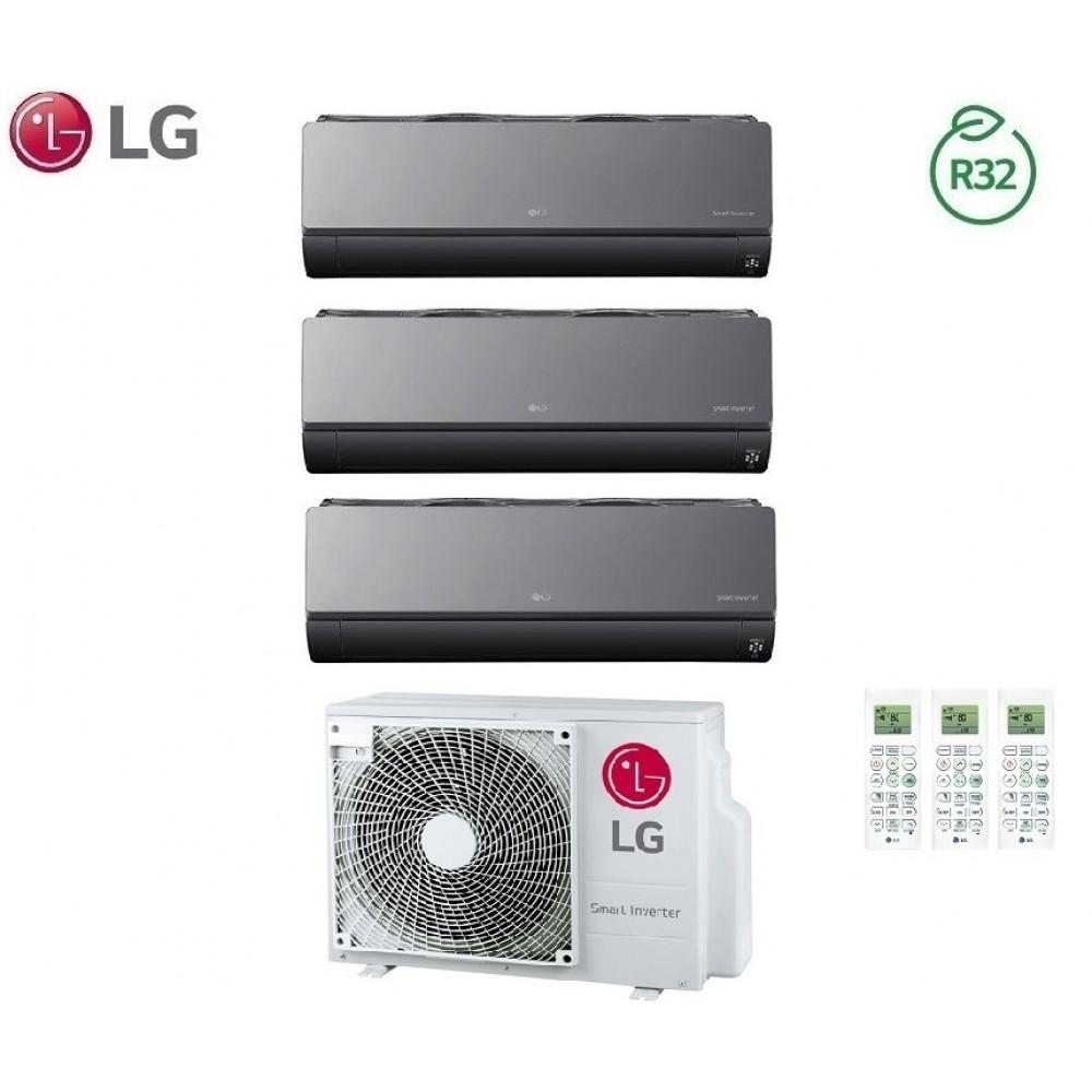 Climatizzatore Condizionatore LG Trial Split Inverter ArtCool R-32 9000+9000+12000 con MU3R19 9+9+12 Wi-Fi - NEW 2018