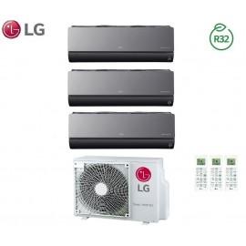 Climatizzatore Condizionatore LG Trial Split Inverter ArtCool R-32 9000+12000+12000 con MU3R21 9+12+12 Wi-Fi - NEW 2018