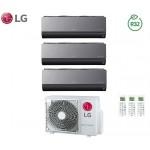 Climatizzatore Condizionatore LG Trial Split Inverter ArtCool R-32 12000+12000+12000 con MU3R21 12+12+12 Wi-Fi - NEW 2018