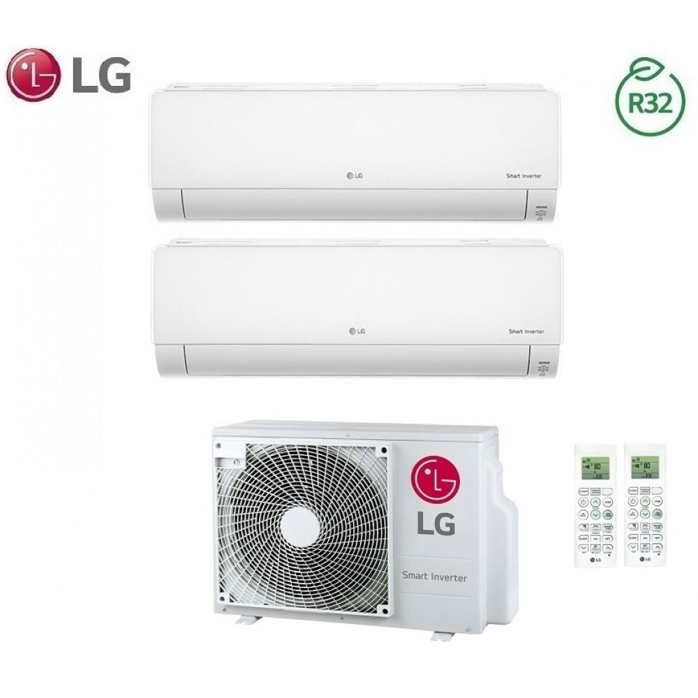 Climatizzatore Condizionatore LG Dual Split Inverter Deluxe R-32 7000+12000 con MU2R15 7+12 Wi-Fi - NEW 2018