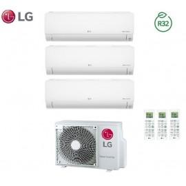 Climatizzatore Condizionatore LG Trial Split Inverter Deluxe R-32 9000+9000+12000 con MU3R19 9+9+12 Wi-Fi - NEW 2018