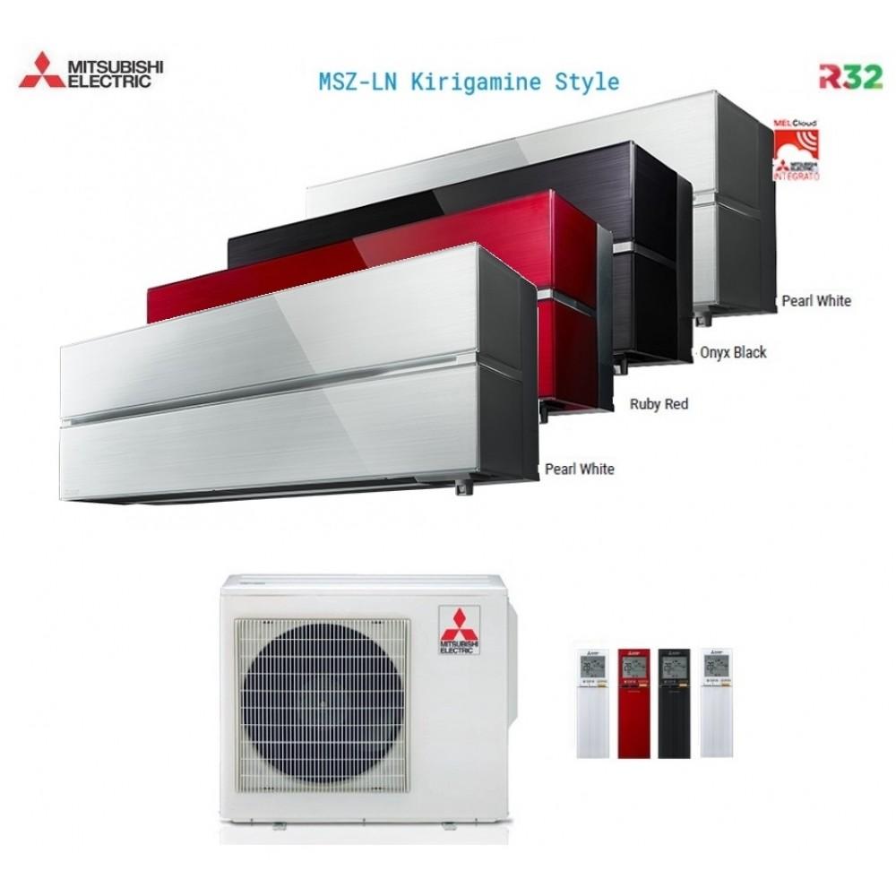 Climatizzatore Condizionatore Mitsubishi Electric Quadri Split Inverter MSZ-LN Kirigamine Style R-32 9000+9000+9000+12000 con MXZ-4F72VF Wi-Fi NEW 9+9+9+12
