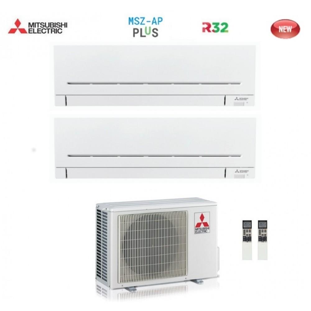 Climatizzatore Condizionatore Mitsubishi Electric Dual Split Inverter MSZ-AP R-32 7000+7000 con MXZ-2F42VF NEW 7+7
