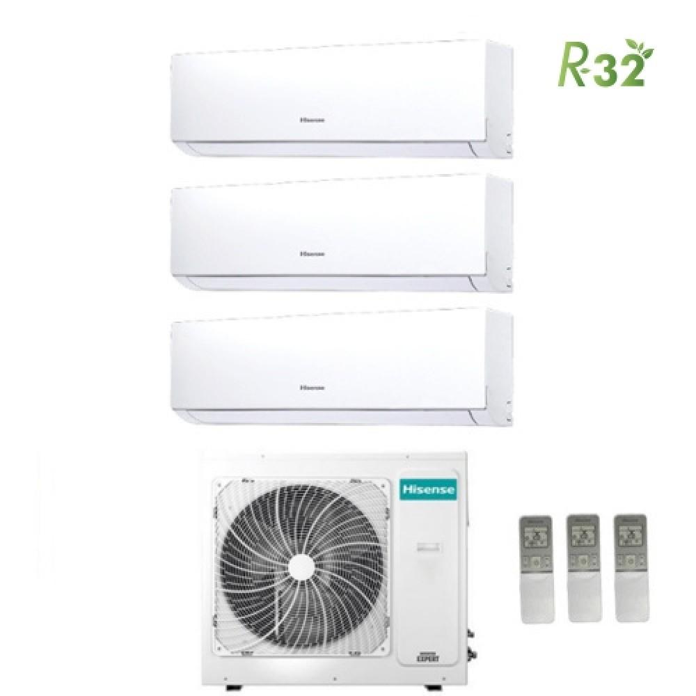 Climatizzatore Condizionatore Hisense Trial Split Inverter New Comfort R-32 7000+7000+12000 con 3amw72u4rfa A++ Wi-Fi Optional NEW