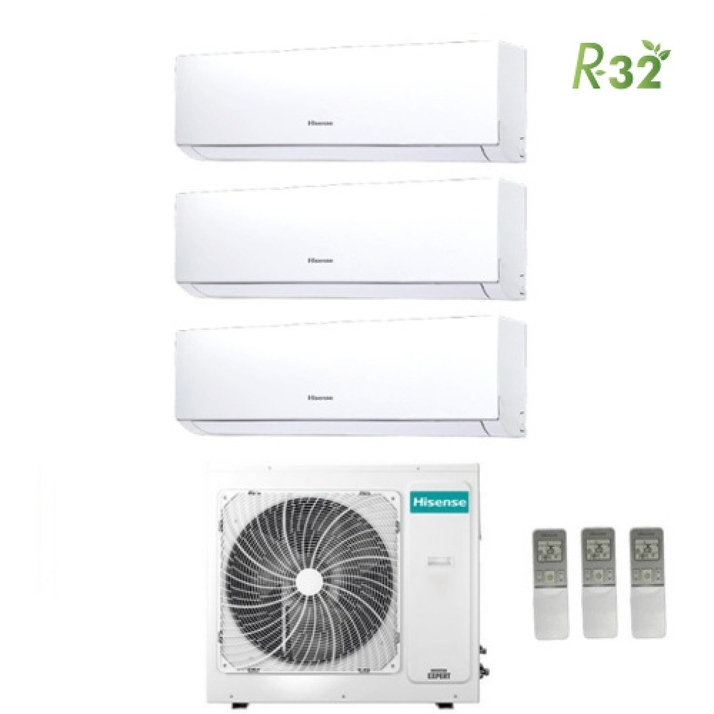 Climatizzatore Condizionatore Hisense Trial 9+12+12 Serie New Comfort 9000+12000+12000 Btu Con 3amw72u4rfa R32 Classe A++